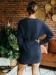 525 America Cotton Crewneck Sweater Dress