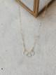 Foamy Wader Trio Triple Ring Necklace