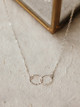 Foamy Wader Infinity Hammered Double Ring Necklace