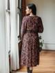 Self Contrast Savannah Smocked V Neck Midi Dress