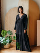 Self Contrast Claire Long Sleeve Maxi Dress with Pockets