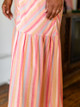 Self Contrast Amelia Striped Spaghetti Maxi Dress