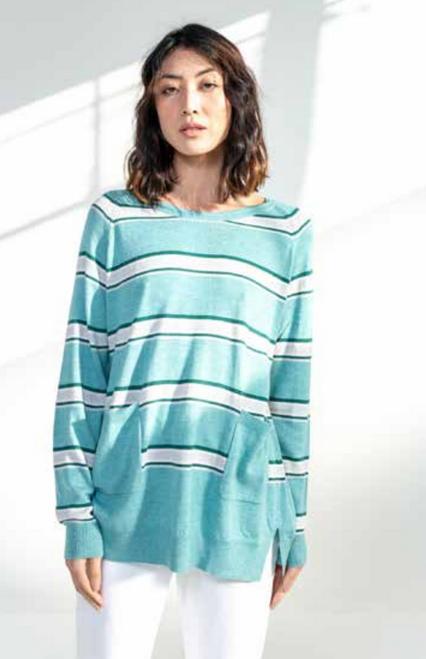 Striped A Line Pullover - LC2062