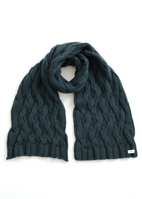 Mabel Aran Cable Scarf