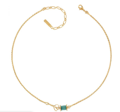 NECKLACE COTTON REEL Turquoise 50104 T