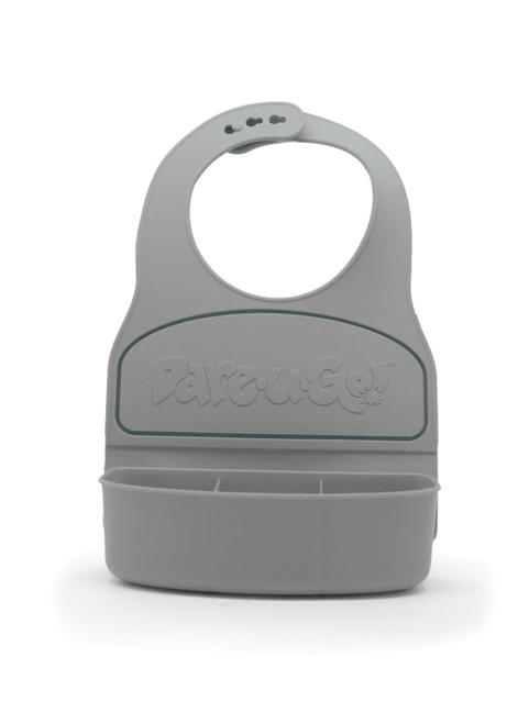 Dareugo travel bib in grey colour