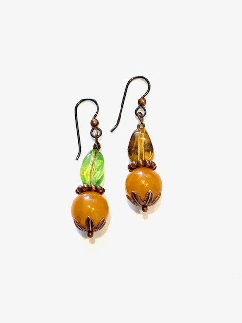 Amber - Recrafted Dangles