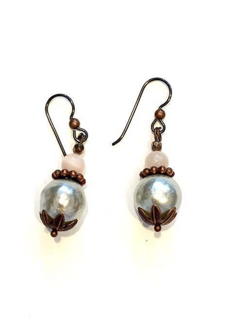 Pearl - Recrafted Dangles