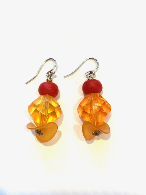 Tangerine - Recrafted Dangles