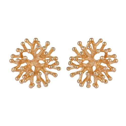 Gold Coral Le Earring