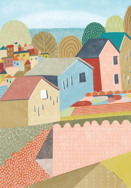 Little Village Giclee Print