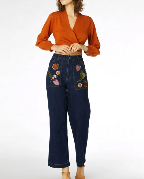 Fruits And Flora Jean-Dark Denim