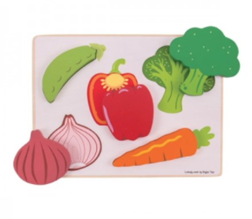 Bigjigs Toys - Lift and See Puzzle - Vegetables