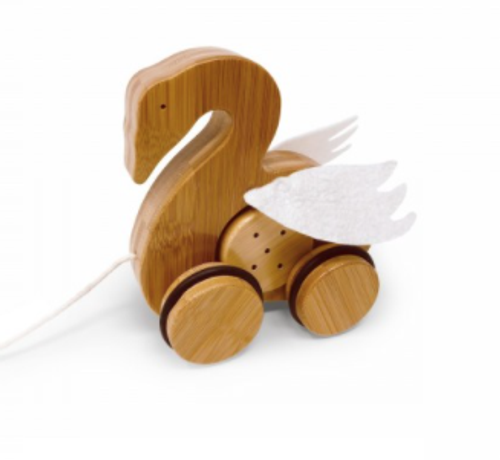 Kinderfeets - Bamboo Pull Toy Swan