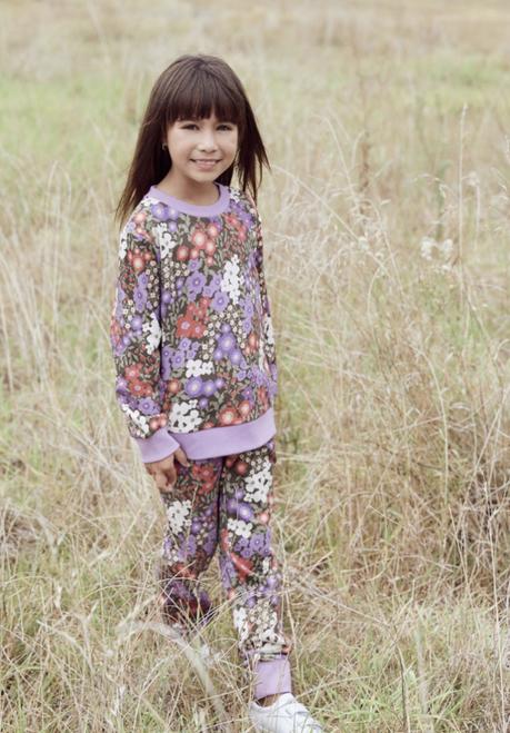 Garden Flora Kids Trakkie Pant-Lilac