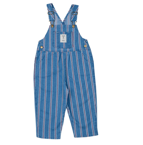 G+A Austin Denim Overalls Vintage Stripe