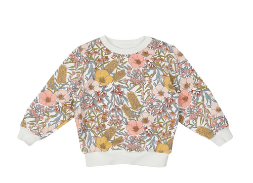 G+A Vintage Floral Relaxed Sweater