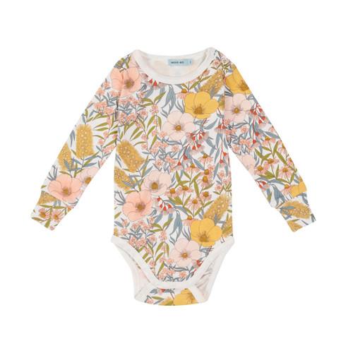 G+A Vintage Floral Long Sleeve Bodysuit
