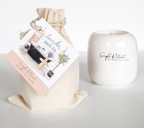 Lavender & White Tea Candle