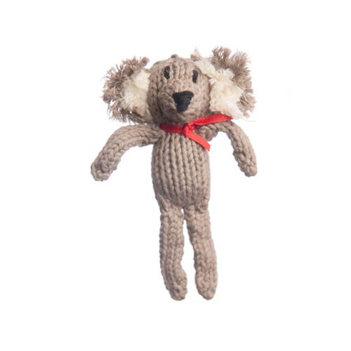 organic cotton knitted koala toy