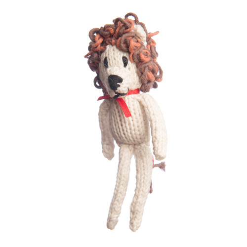 organic cotton lion toy or Christmas decoration