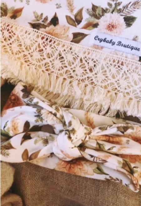Vintage Floral ~ Top Knot