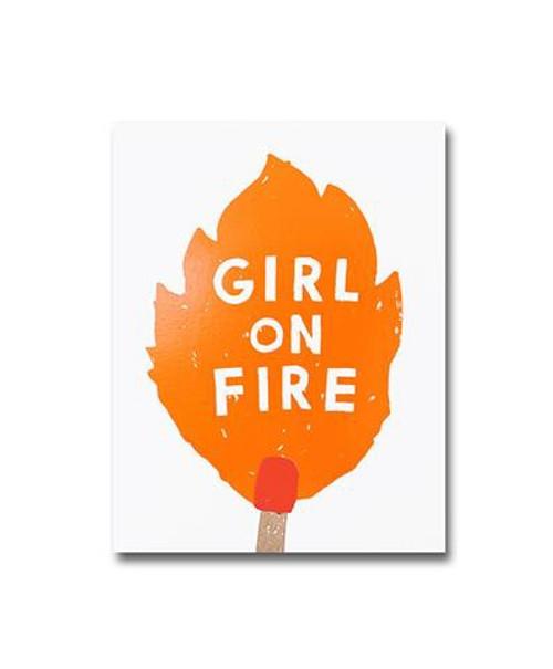 Notebook - A6 - Girl On Fire