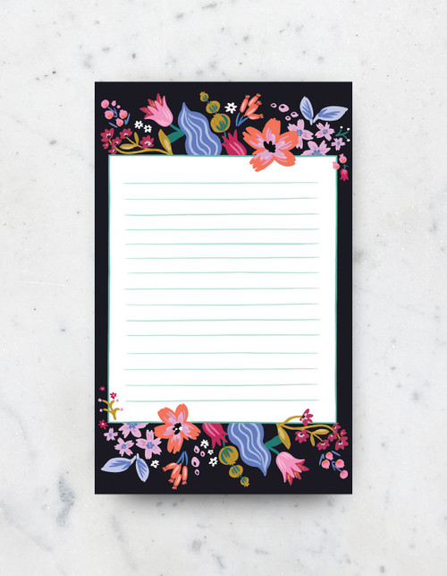 Notepad - Coral Floral