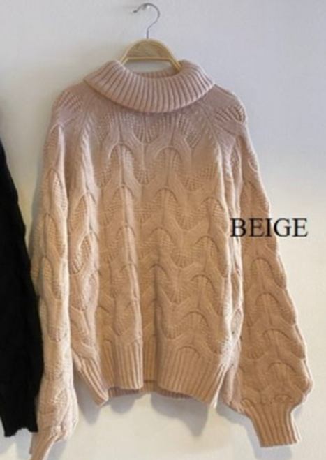 Multi Cabled Roll Neck