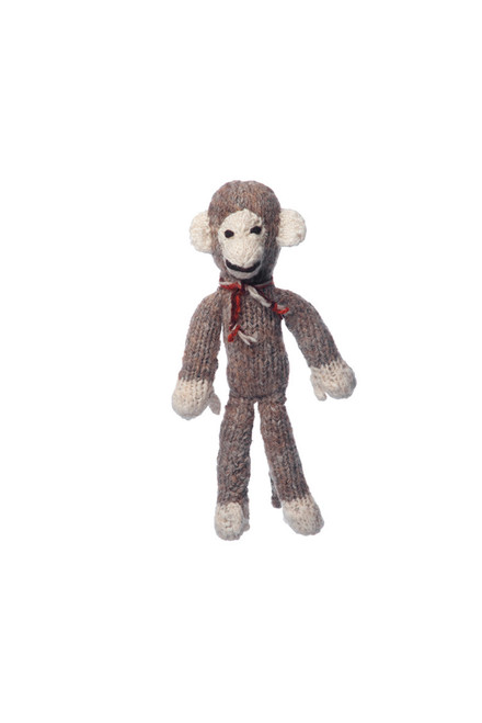 hand knitted monkey toy