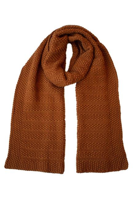 Moss Stitch Knit Scarf