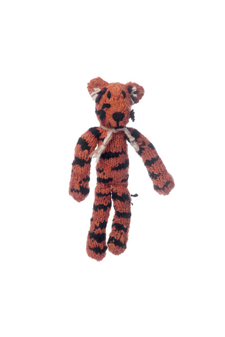 Hand knitted tiger toy