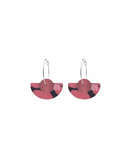 Pagoda shaped dangle earrings by Moe Moe