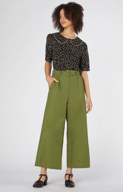 Ivy Wide Leg Pant | Green