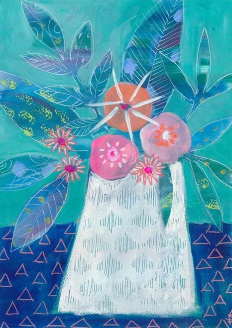 White Vase Card