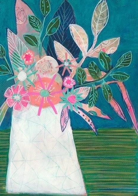 Stripe Tablecloth Art Print - A3