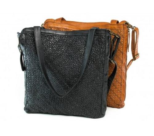 Pineapple Leather Bag - Black