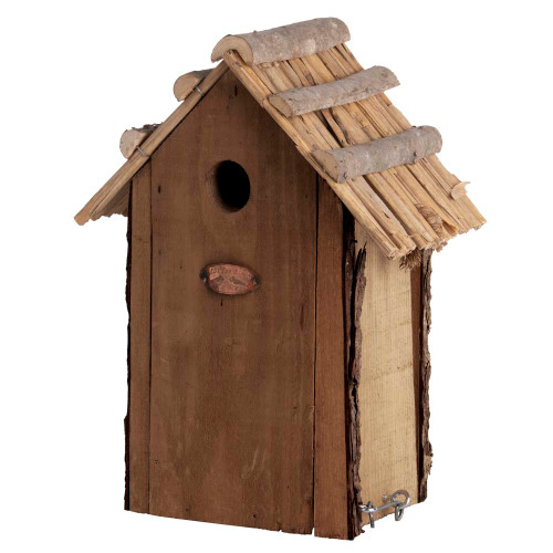 Nest Box with Thatched Roof
