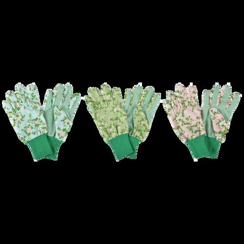Garden Gloves - Rose Print