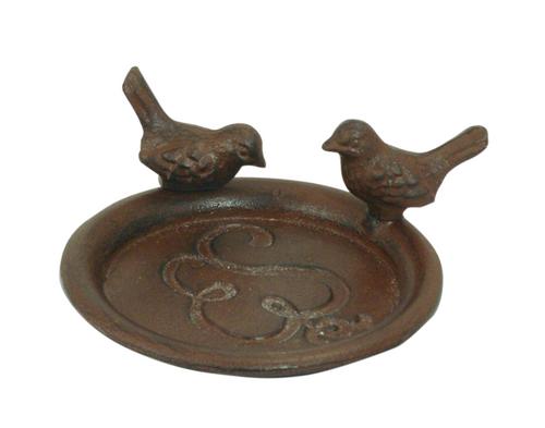 Bird Saucer   Rust