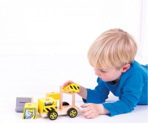 Bigjigs Toys - Stacking Bulldozer