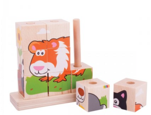 Bigjigs Toys - Stacking Puzzle Pets