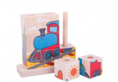 Bigjigs Toys - Stacking Puzzle Transport