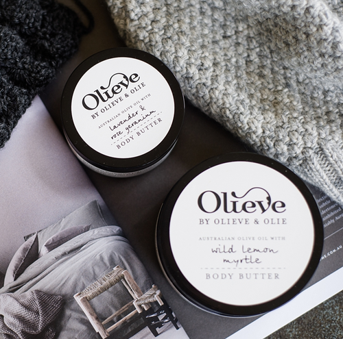 Two jars of Olieve body butter