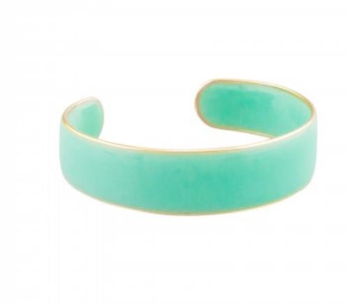 Aqua acrylic cuff bangle