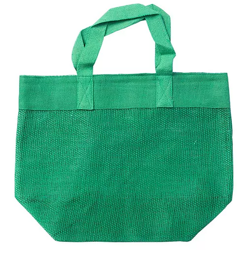 Mesh bag in vibrant green colour