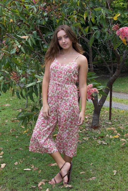 Chloe Jumpsuit - Coral Poppy