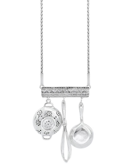 Three Stars Utensils Necklace Small