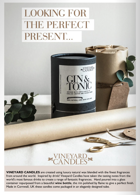 Lifestyle shot of Gin & Tonic candle