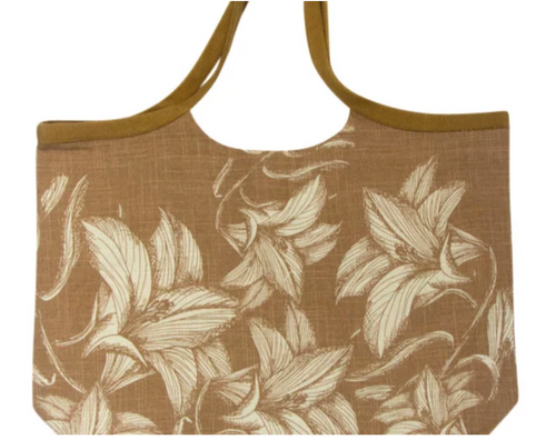A traditional style thick cotton wide bag with gorgeous floral print.